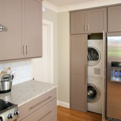 Kitchen Makeover Companies Pictures For The Hidden Laundry Room - Contemporary Twin ...