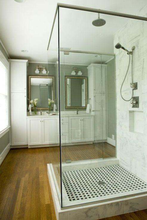 Freestanding Shower  Transitional  bathroom  Twin Companies