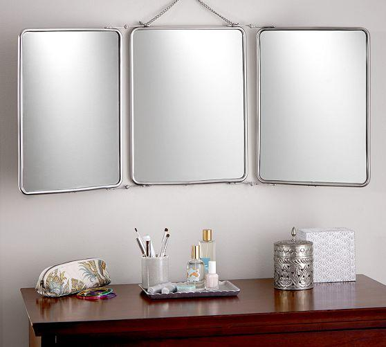 Antique Metal Vanity Mirror