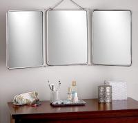 Tri-Fold Silver Mirror