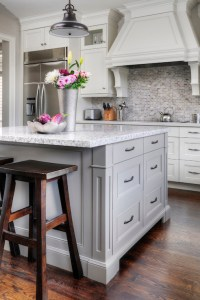 Grey Kitchen Island - Transitional - kitchen - Farrow and ...