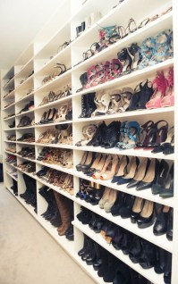 Full Wall Shoe Shelves - Contemporary - closet - The Coveteur