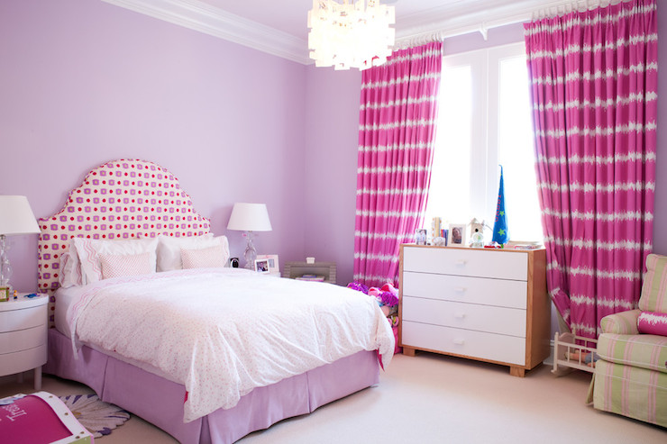 Hot Pink Curtains Contemporary Girl S Room Art Haus