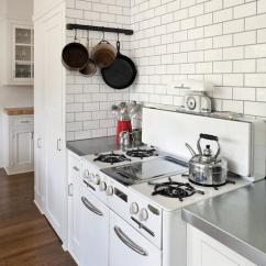 Stainless Kitchen 30 Gallon Trash Can White Subway Tile With Dark Grout Design Ideas
