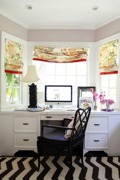 Bay Window With Built In Desk Design Ideas