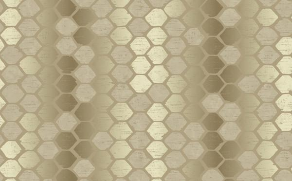 Damask Wallpaper For Girl Nursery Abstract Geometric Silver Gold Wallpaper