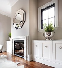Mirror over Fireplace - Transitional - living room - The ...