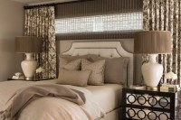 Curtains Behind Bed - Traditional - bedroom - Nifelle Design