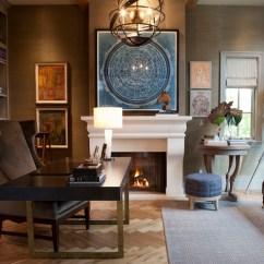 Wingback Office Desk Chair Covers For Sale On Ebay Herringbone Floor - Transitional Den/library/office Alice Lane Home
