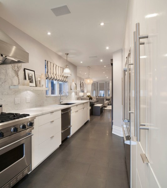white galley kitchen designs Galley Kitchen Ideas - Contemporary - kitchen - Ruby Photo
