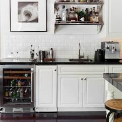 Black Kitchen Appliances Sink Pipe Bar Shelf - Transitional Adam Hunter Inc