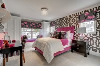 Pink and Gray bedroom - Contemporary - girl's room - Great ...