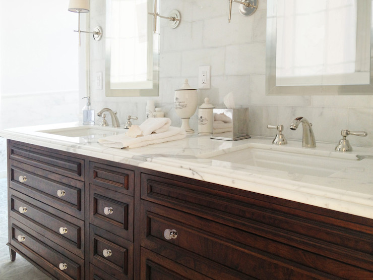 Dark Brown Washstand  Transitional  bathroom  Benjamin
