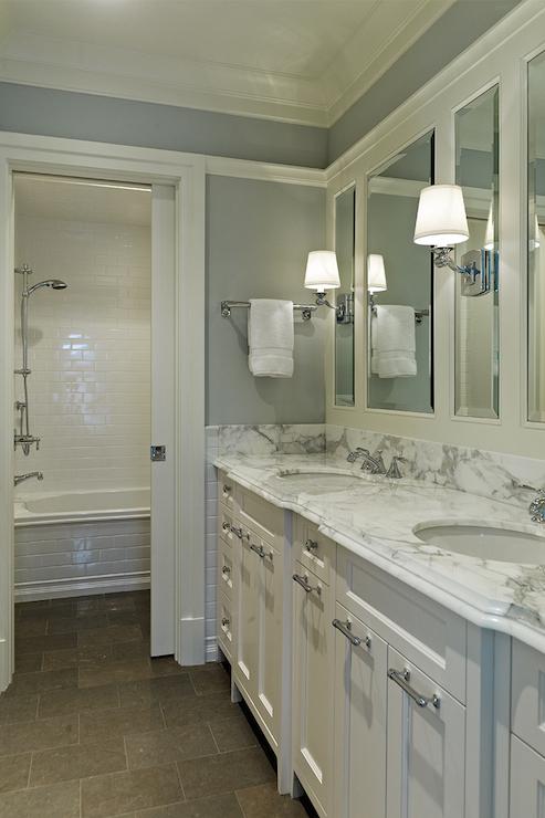 Separate Shower  Transitional  bathroom  MC