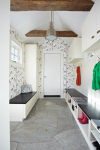 Mudroom Wallpaper - Transitional - laundry room - TR ...