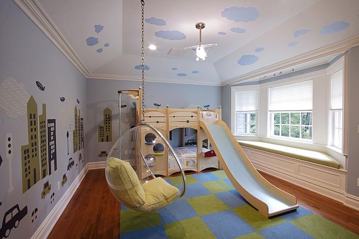 Bunk Bed Slide  Contemporary  boys room  Vanessa Deleon