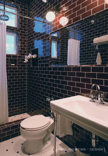 Dark Brown Subway Tiles  Contemporary  bathroom  Jeff