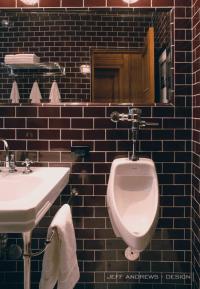 Brown Subway Tiles - Contemporary - bathroom - Jeff ...