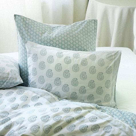 Ava Block Blue and White Print Duvet