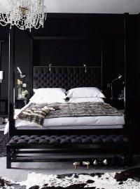 Black Bedroom - Contemporary - bedroom