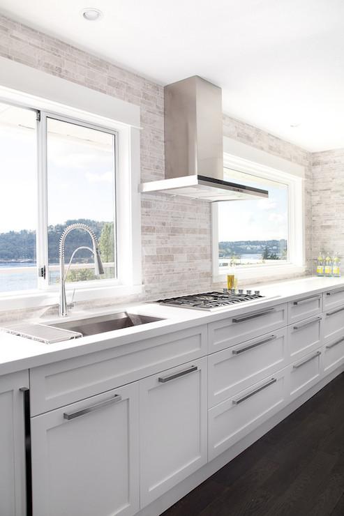 No Upper Cabinets Contemporary Kitchen Moeski Design