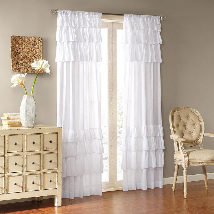Lush Decor Pink 84inch Ruffle Curtain Panel