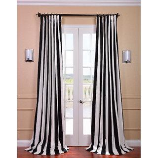 cabana black stripe cotton curtain panel