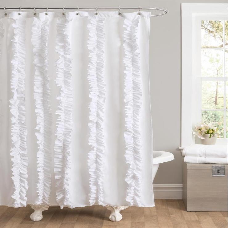 UrbanOutfitterscom  Bloomer Ruffle Shower Curtain