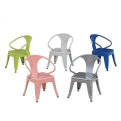 Kids Stackable Chairs Blue And White Chair Tabouret Assorted Colors Stacking