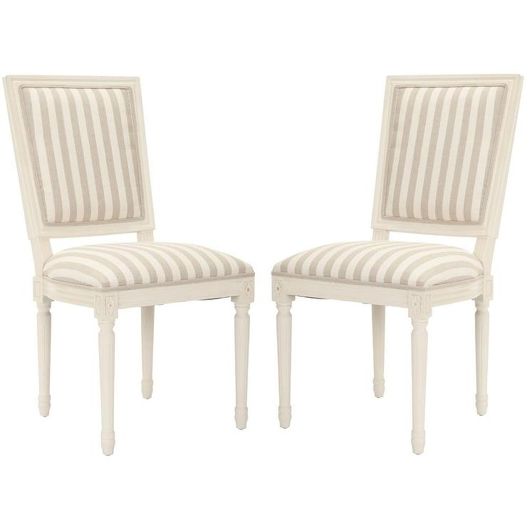 bergere dining chairs chair covers uk ltd stripe cream and grey side