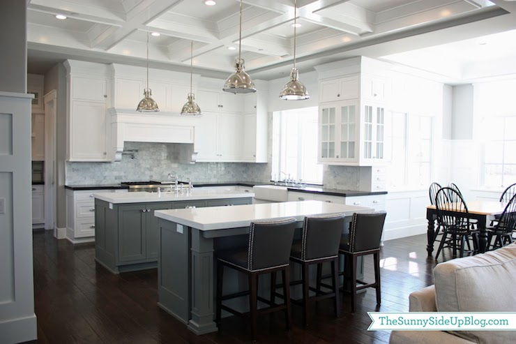 Double Kitchen Islands  Transitional  kitchen  Benjamin