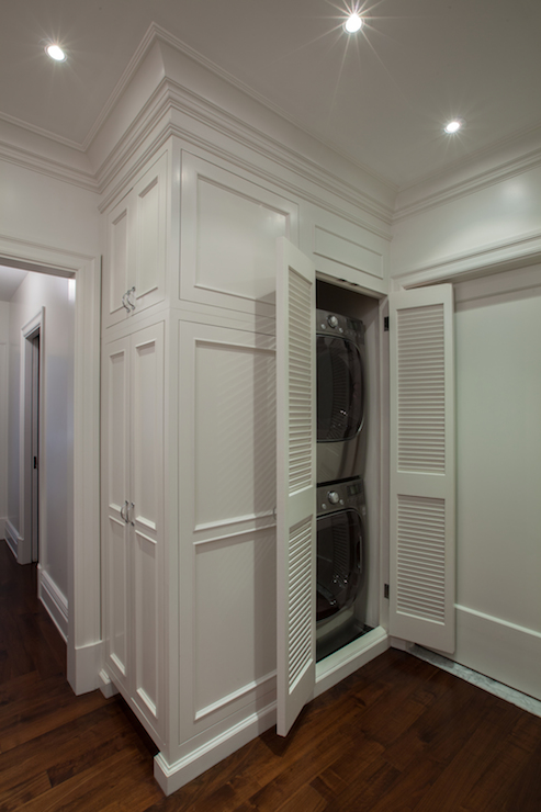 Closet Washer Dryer  Transitional  laundry room  The