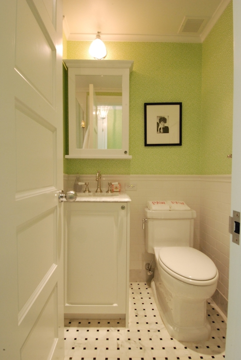 pictures of chair rails in bathrooms antique style accent chairs quadrille wallpaper - vintage bathroom the renovated home