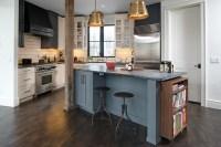 Kitchen Island Bookcase - Transitional - kitchen - Bay ...