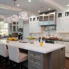 Grey Kitchen Island Granite Countertops Transitional Kitchens By Eileen