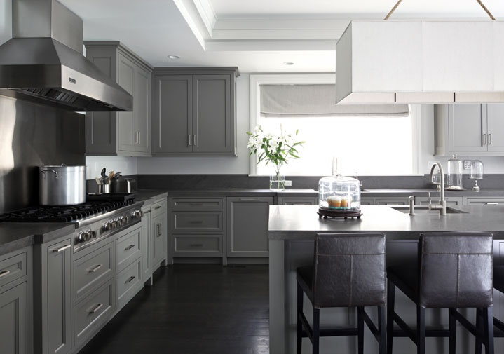 Gray Kitchen Cabinets  Contemporary  kitchen  Mar