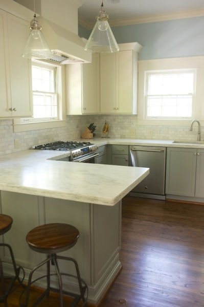 White Upper Cabinets Gray Lower Cabinets Transitional