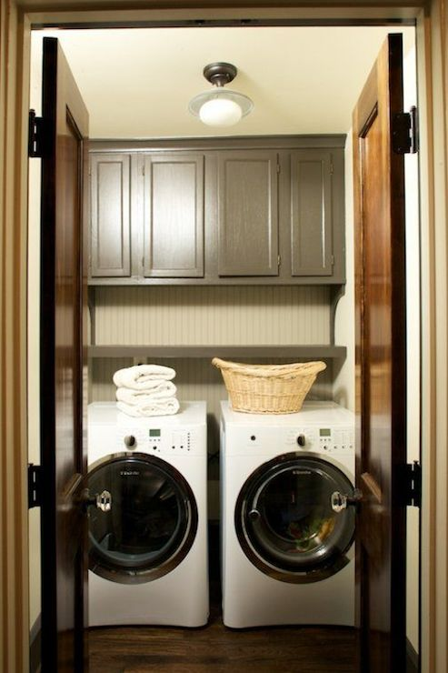 Cabinets Over Washer Dryer  Transitional  laundry room