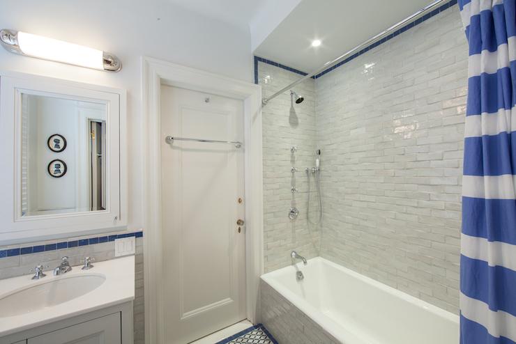 Trellis Shower Curtain  Transitional  bathroom  Corea