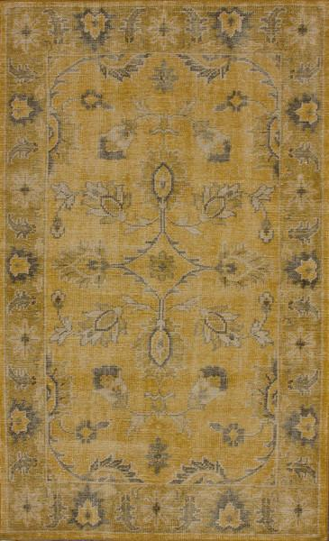 Alec Grey and Gold Cotton Area Rug