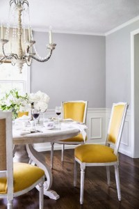 Yellow Dining Chairs - Transitional - dining room - Farrow ...
