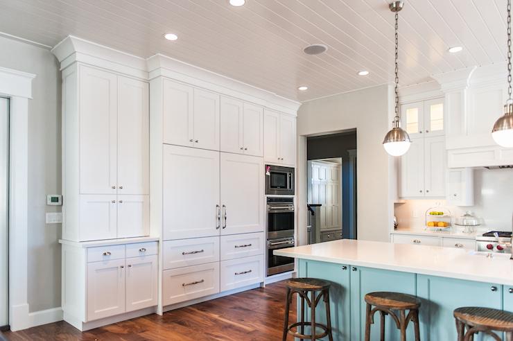 Concealed Refrigerator Kitchen Benjamin Moore White
