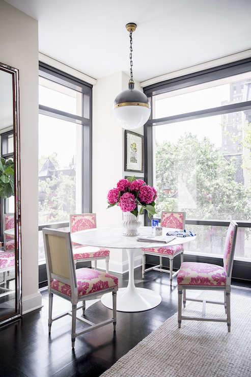 Pink Dining Chairs  Contemporary  dining room  Domino