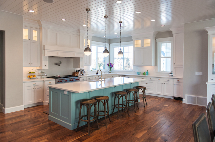 Gray And Teal Kitchen Novocom Top