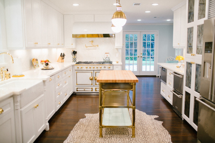 Brass Kitchen Island Contemporary Kitchen Style Me