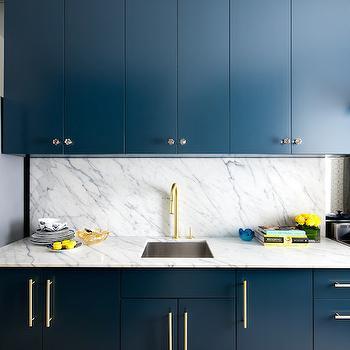 upper kitchen cabinets island kitchens navy blue brass hardware design ideas