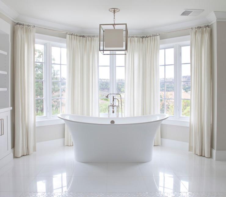 Bay Windows Bathroom  Traditional  bathroom  Brooke Wagner Design