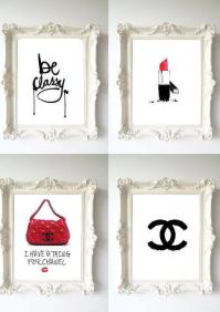 Be Classy Chanel Wall Art Prints