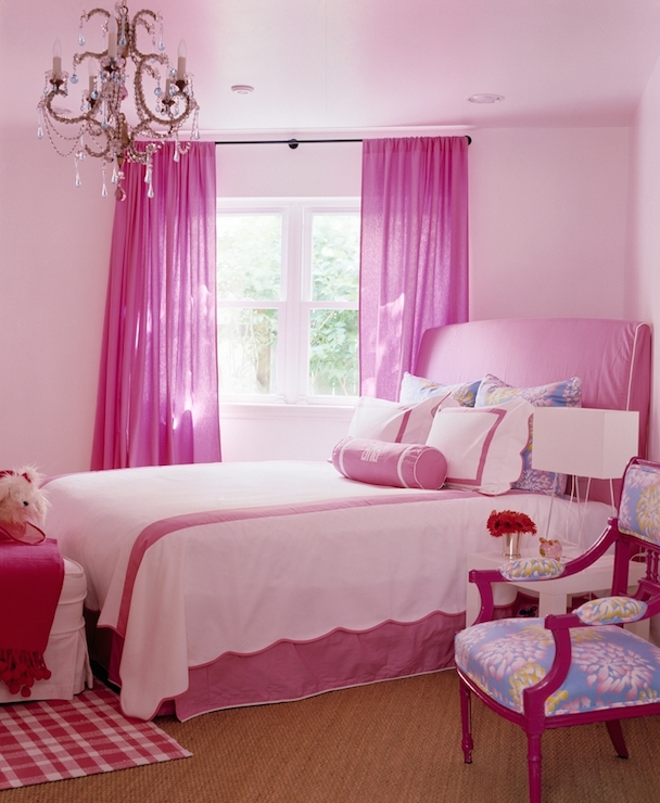 Hot Pink Curtains  Traditional  girls room  Katie by