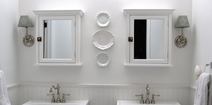 His and Her Medicine Cabinets  Transitional  bathroom